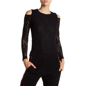 NWT Nordstrom 1.STATE Long Sleeve Lace Bodysuit